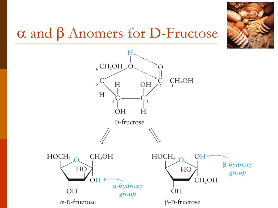  and  Anomers for D-Fructose