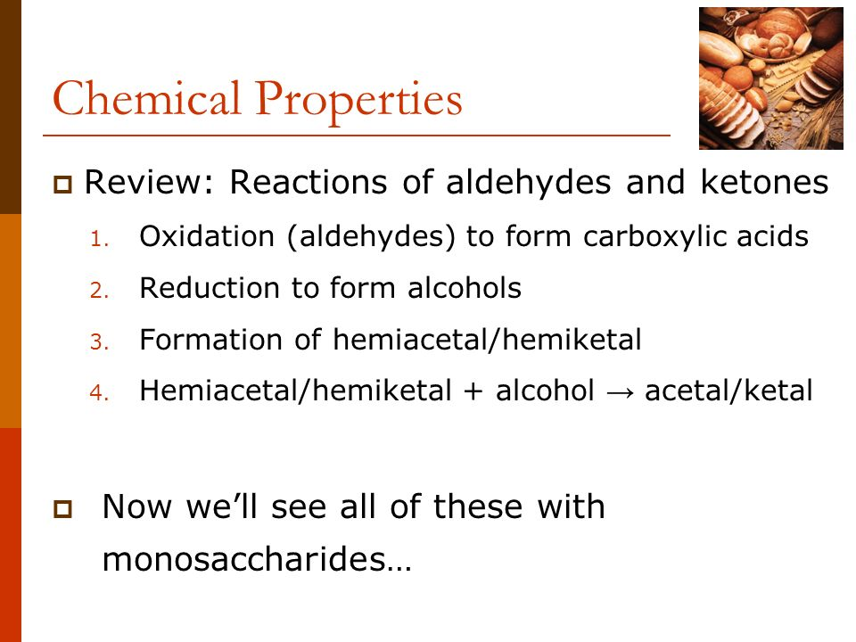 Chemical Properties Review: Reactions of aldehydes and ketones