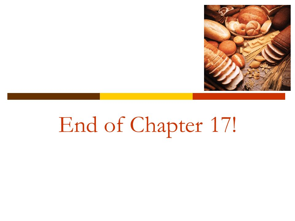 End of Chapter 17!