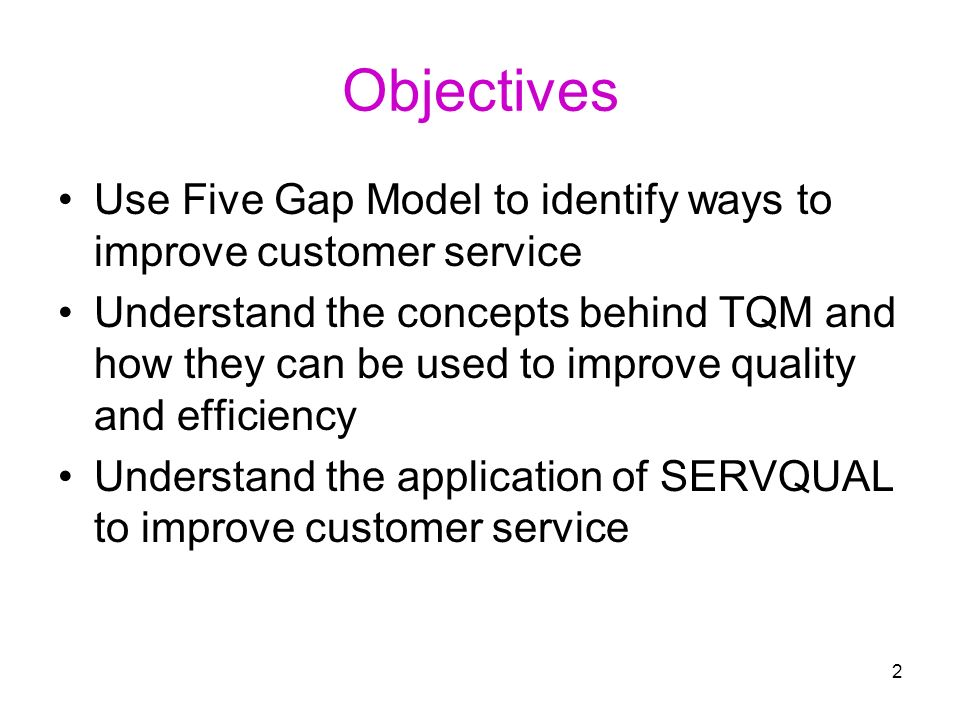 service concept profiling and the servqual model Service quality - concepts and models  a quality model should enable the management to: 1  in this article we examine the underlying concepts of service .