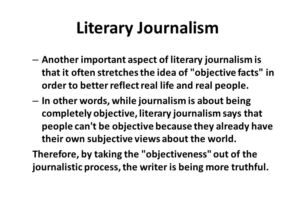 example of literary journalism essay