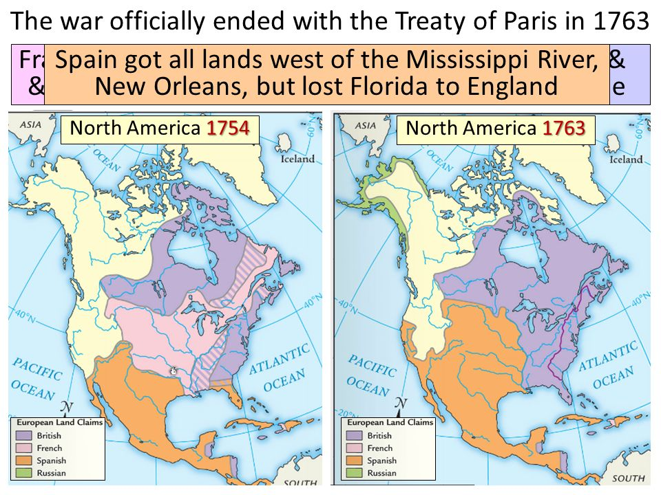 The French And Indian War Ppt Video Online Download: Outline Map North America 1754 At Usa Maps