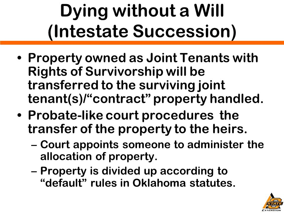 Jc hobbs farm transition program april ppt download dying without a will intestate succession solutioingenieria Choice Image