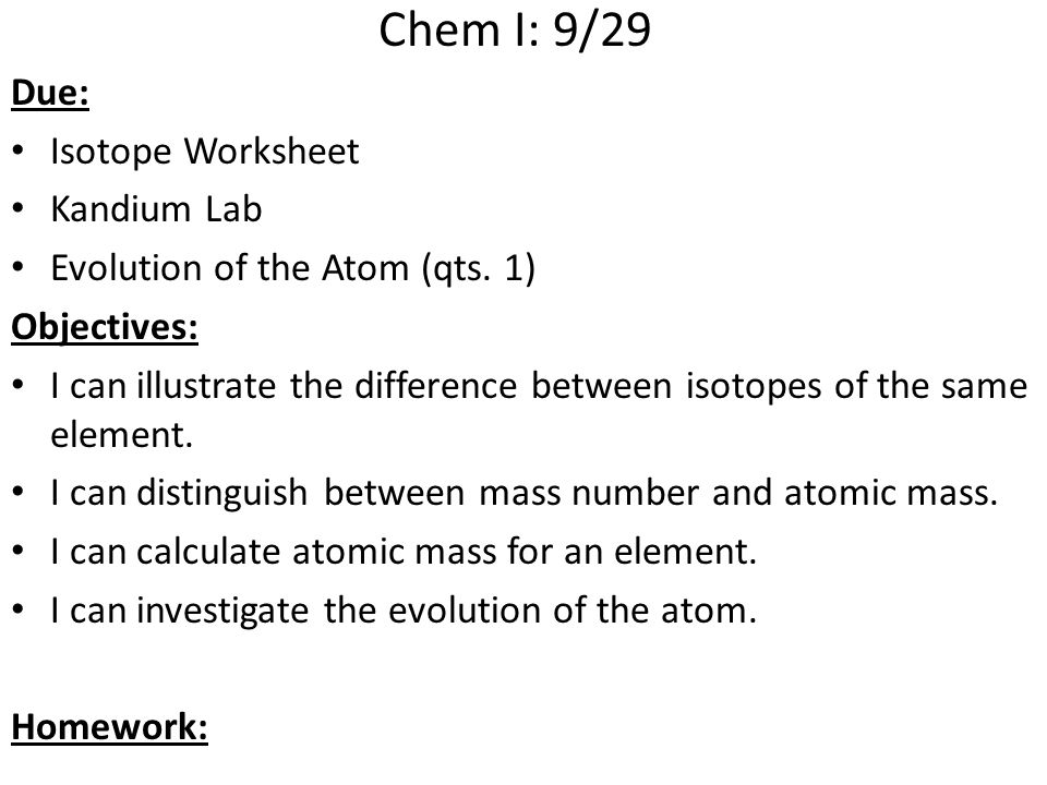 ChemI Block Due Atomic Structure Ranking Task Worksheet ppt – Calculating Atomic Mass Worksheet