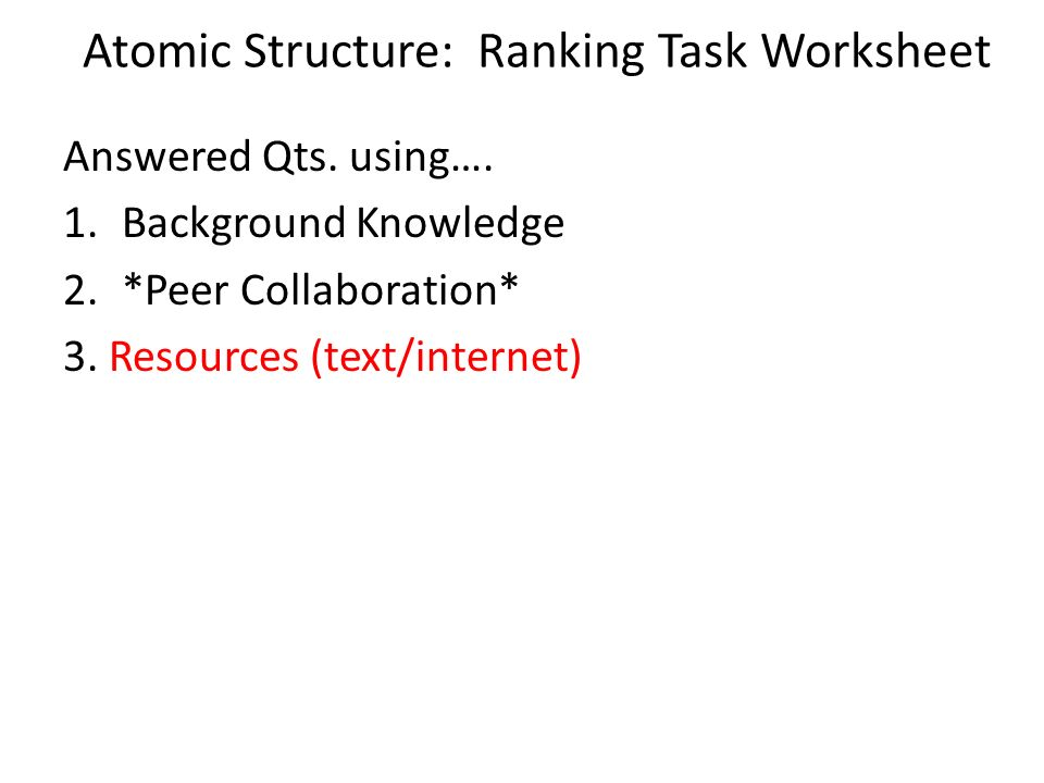Atomic basics worksheet answers