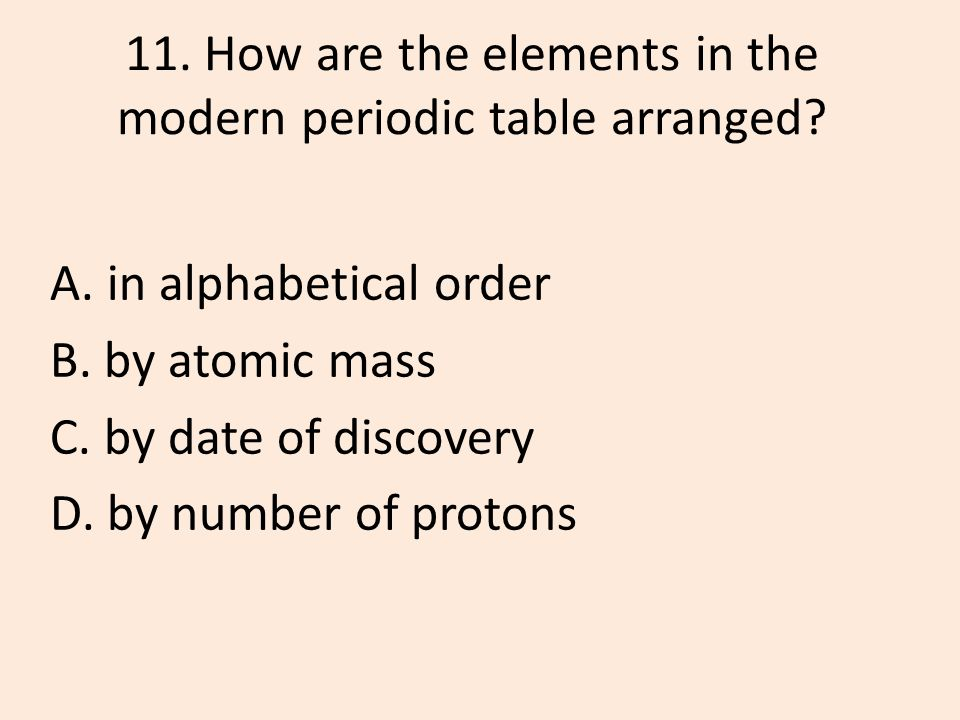 Quarterly review 1st quarter units 12 and ppt download how are the elements in the modern periodic table arranged urtaz Image collections