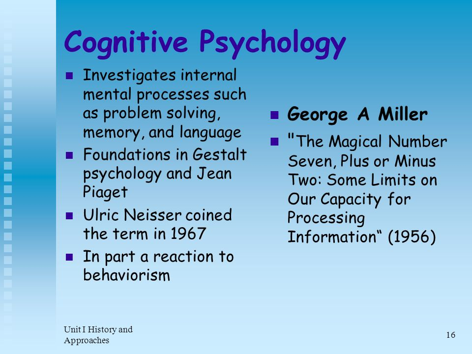 the history and development of behaviorism cognitive and gestalt psychology Gestalt psychology: gestalt psychology, school of psychology founded in the 20th century that provided the foundation for the modern study of perception gestalt.