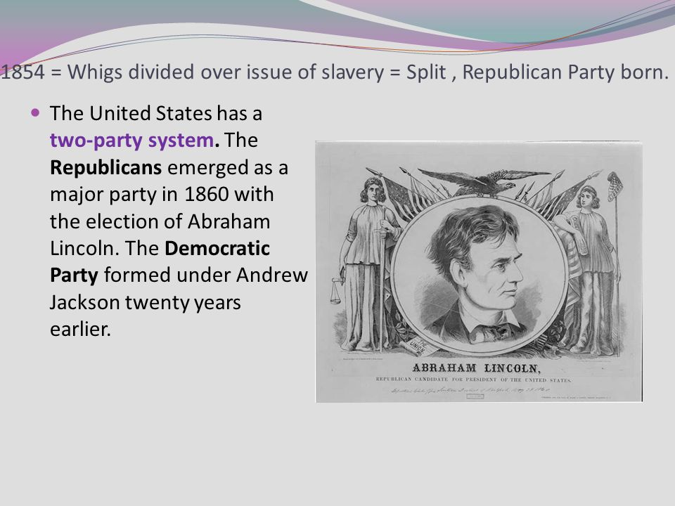 the issues regarding the republican party in the 1860s The party split over the slavery issue in 1860 at its presidential convention in   reconstruction and the republican party's support of black civil and political.