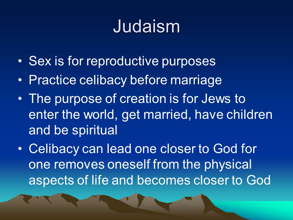 Judaism sex before marriage that
