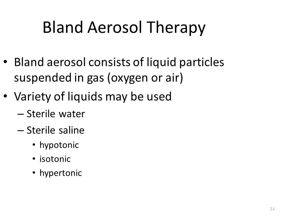 Chapter 35 Humidity And Bland Aerosol Therapy Ppt Video