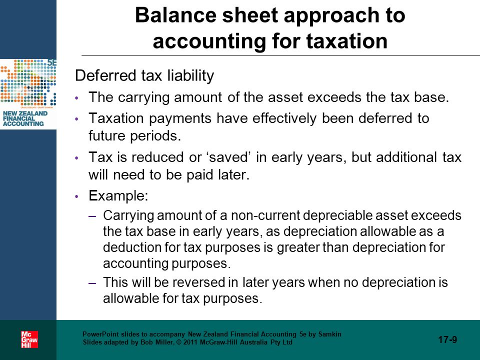 accounting for income taxes chapter ppt video online download
