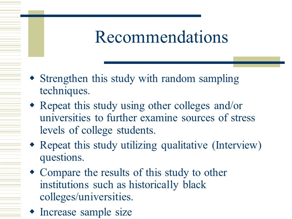 Sources of Stress among for African American College Students ppt