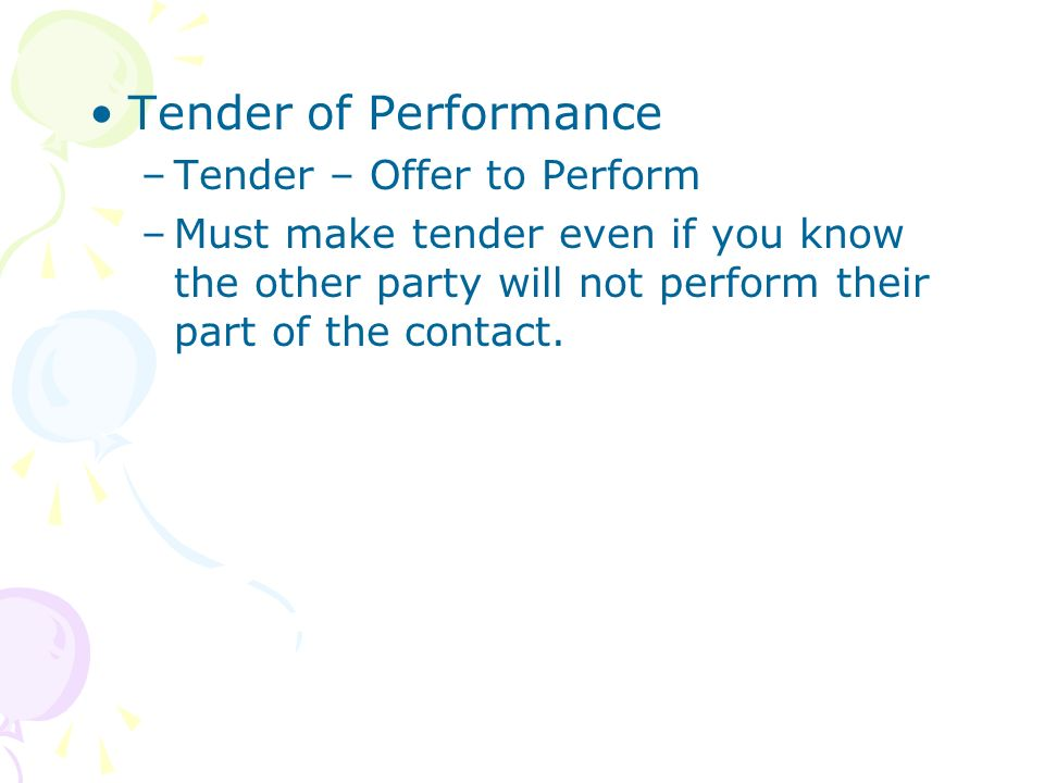 tender of performance Performance indicator evaluation process which will further facilitate continuous improvement the kpi process is a whole life project process of evaluating project key performance indicators and team key performance indicators throughout, and following, the design and construction of new.