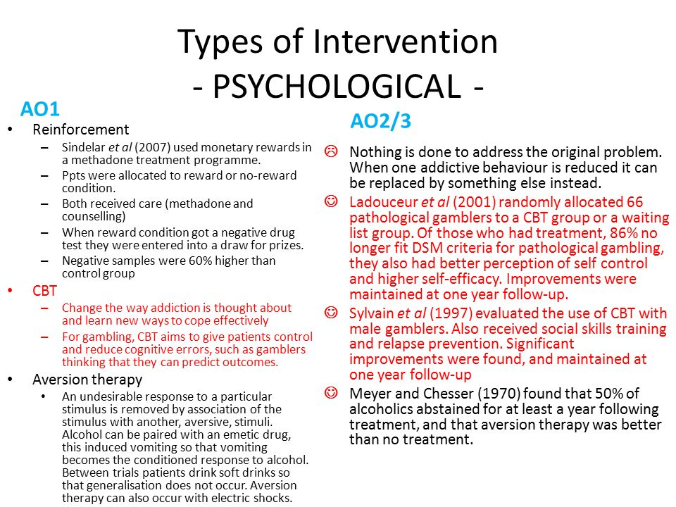 types of intervention psychology Secondary prevention activities are aimed at early disease detection, thereby increasing opportunities for interventions to prevent progression of the disease and emergence of symptoms tertiary prevention reduces the negative impact of an already established disease by restoring function and reducing disease-related complications.