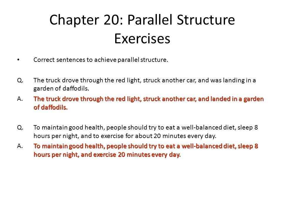 parallel essay writing