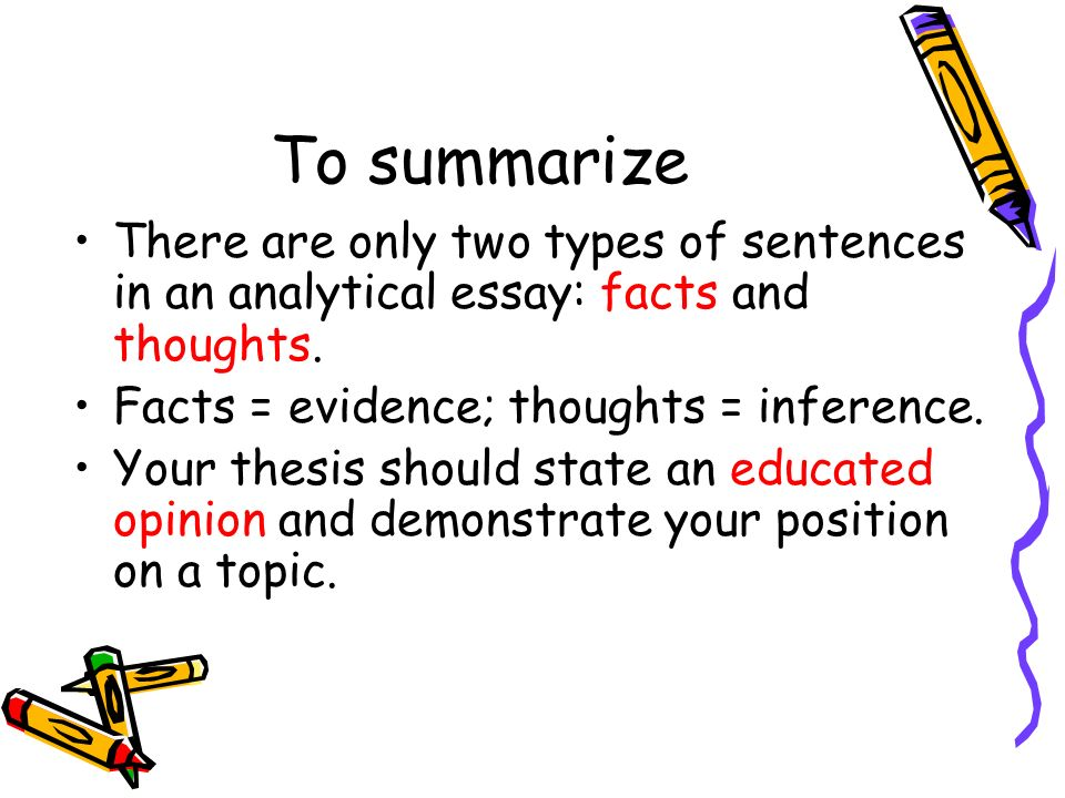 to summarise an essay A narrative summary is a concentrated form of the original story that conveys the plot, characters, conflict and themes, but which is written in your own words being able to summarize a story is an important exercise because it helps develop your ability to synthesize information and repackage it.