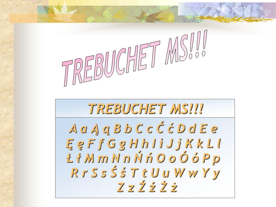 TREBUCHET MS!!! TREBUCHET MS!!!