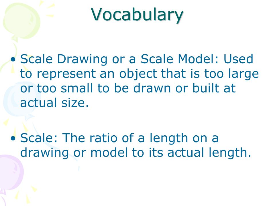 Scale Drawing and Models - ppt download