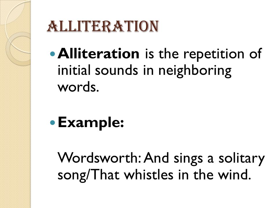 Content Objective Today I Will Identify How Alliteration Enhances