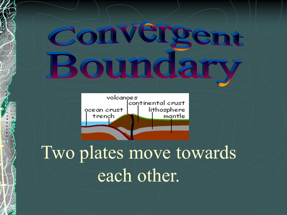 Two plates move towards each other.