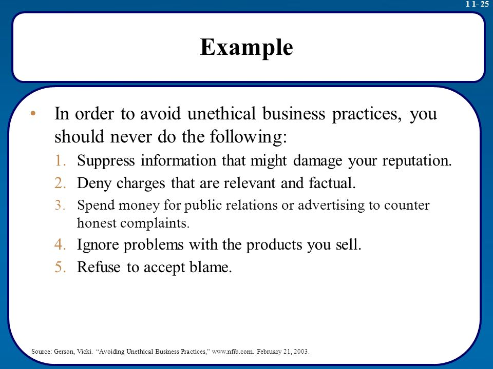 unethical business research example This is because remedies for unethical behavior in business sternberg, e, 2000, just business: business ethics zicklin center for business ethics research.