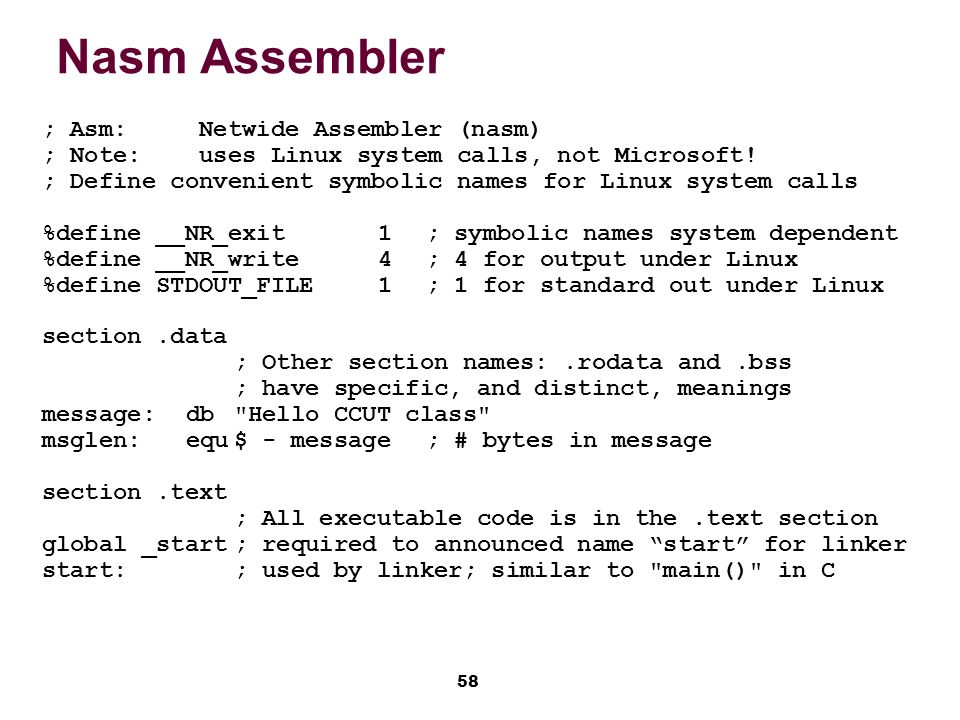 how to write program in assembler