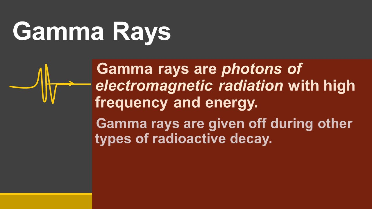 Nuclear chemistry ppt video online download 7 gamma rays gamma rays are photons biocorpaavc Images