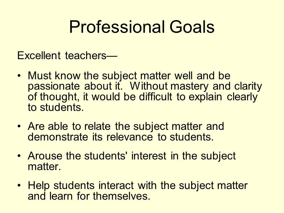 Professional Goals Essay