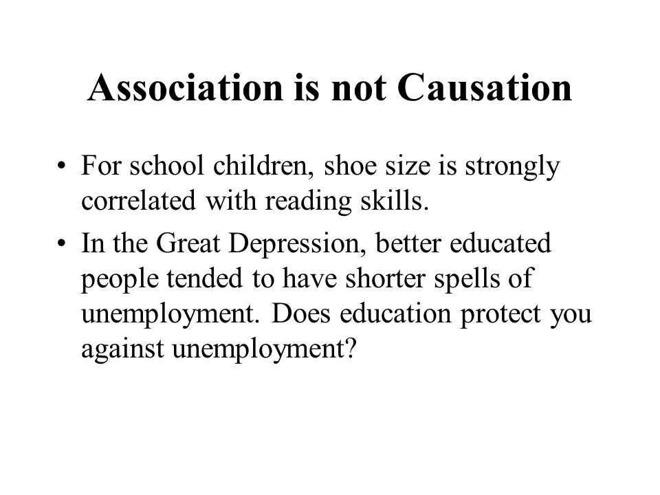 Association is not Causation