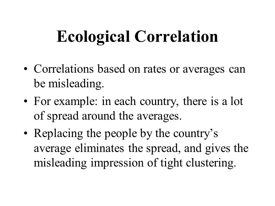 Ecological Correlation