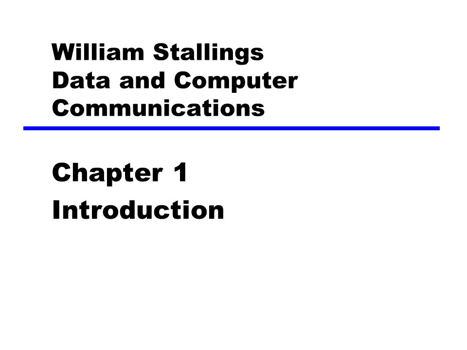 William Stallings Data And Computer Communications Ppt Video
