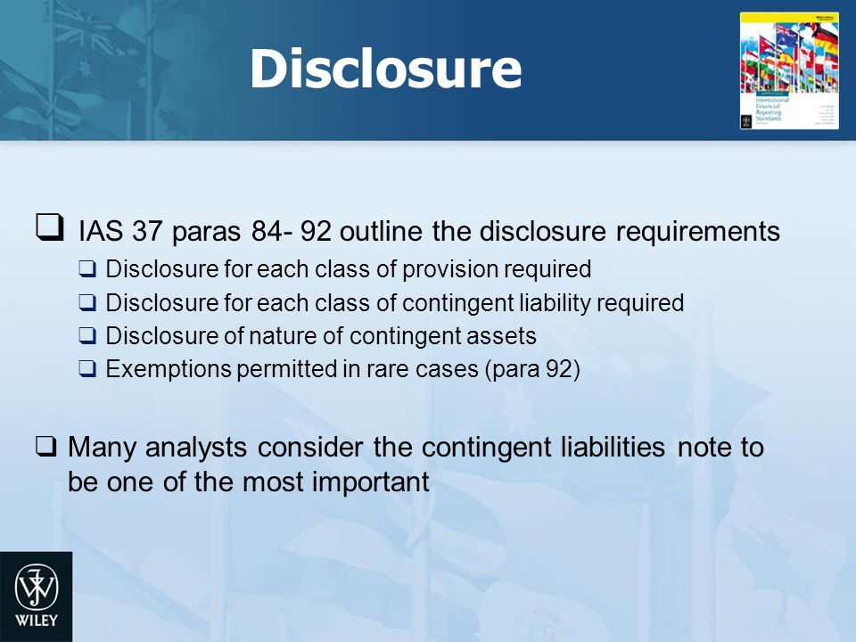 importance of ias37 requirements Object moved this document may be found here.