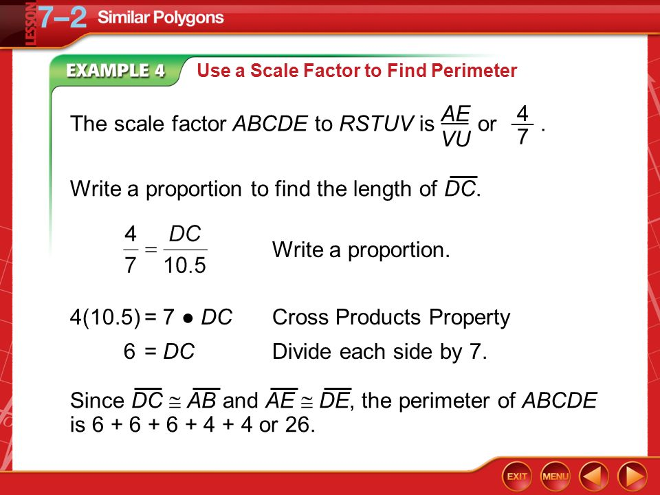 Splash screen ppt download the scale factor abcde to rstuv is or ae vu 4 7 ccuart Images