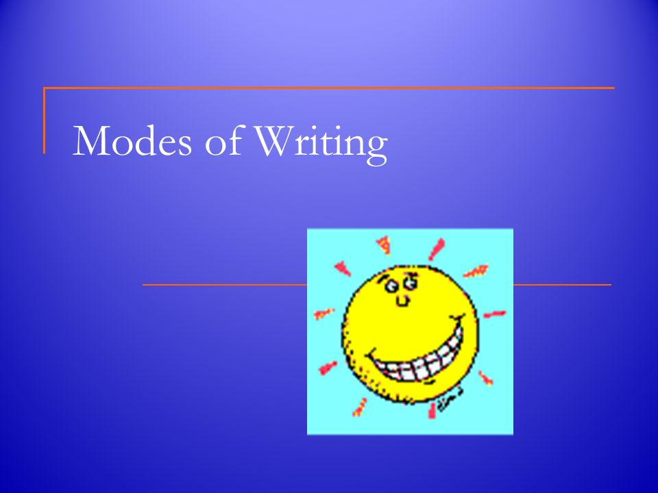 Image result for modes of writing
