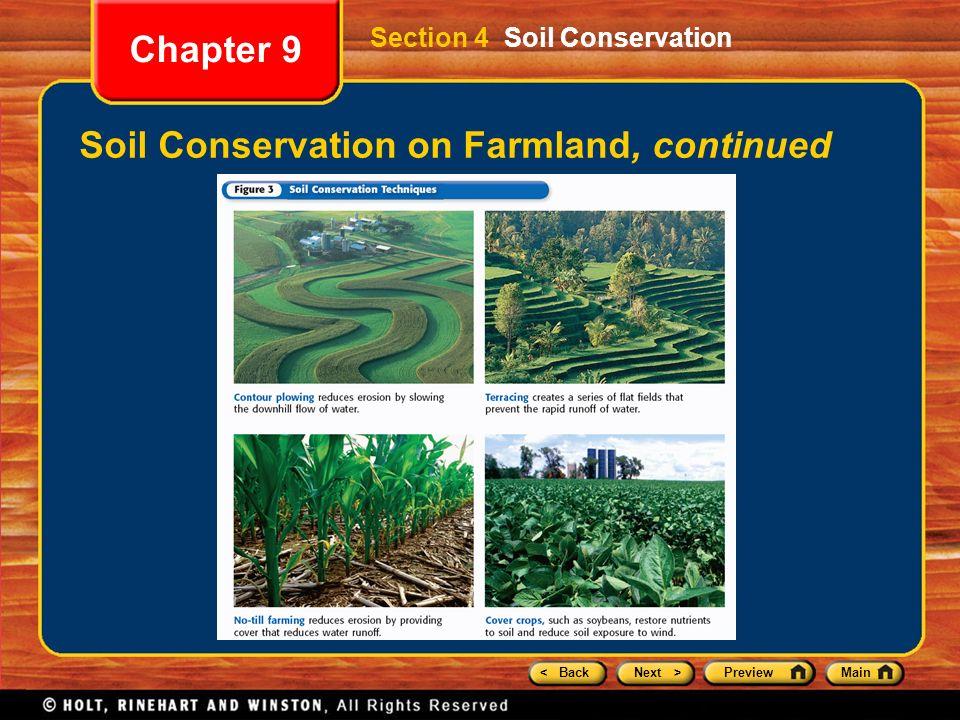 Chapter 9 preview section 1 weathering section 2 rates of for Soil conservation act