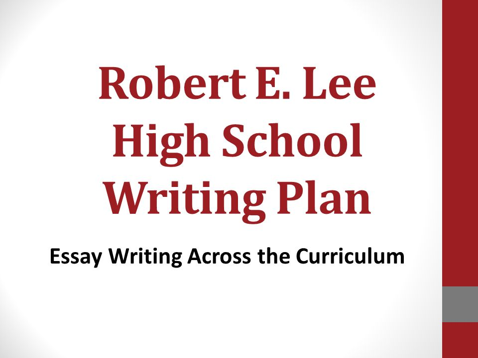 Robert e lee thesis