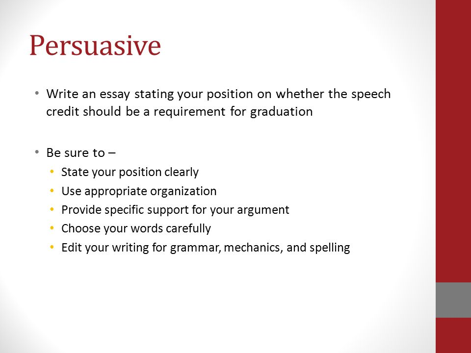 planning a persuasive essay Teach revising a persuasive essay lesson: this writing lesson plan shows how students can revise their own persuasive essays using a writing.