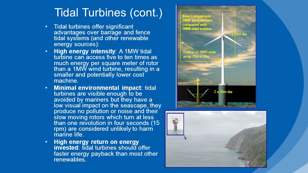 generation of electricity through tidal energy