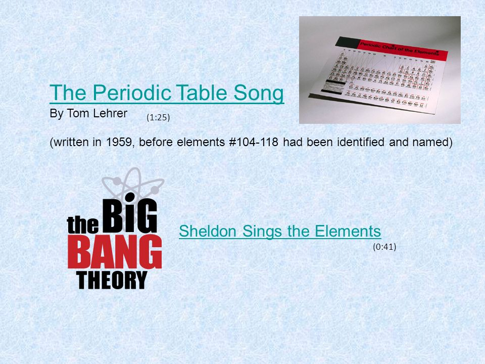The periodic table ppt video online download the periodic table song urtaz Choice Image