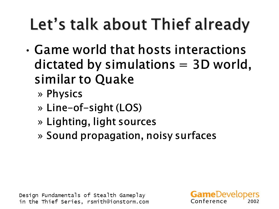Let's talk about Thief already