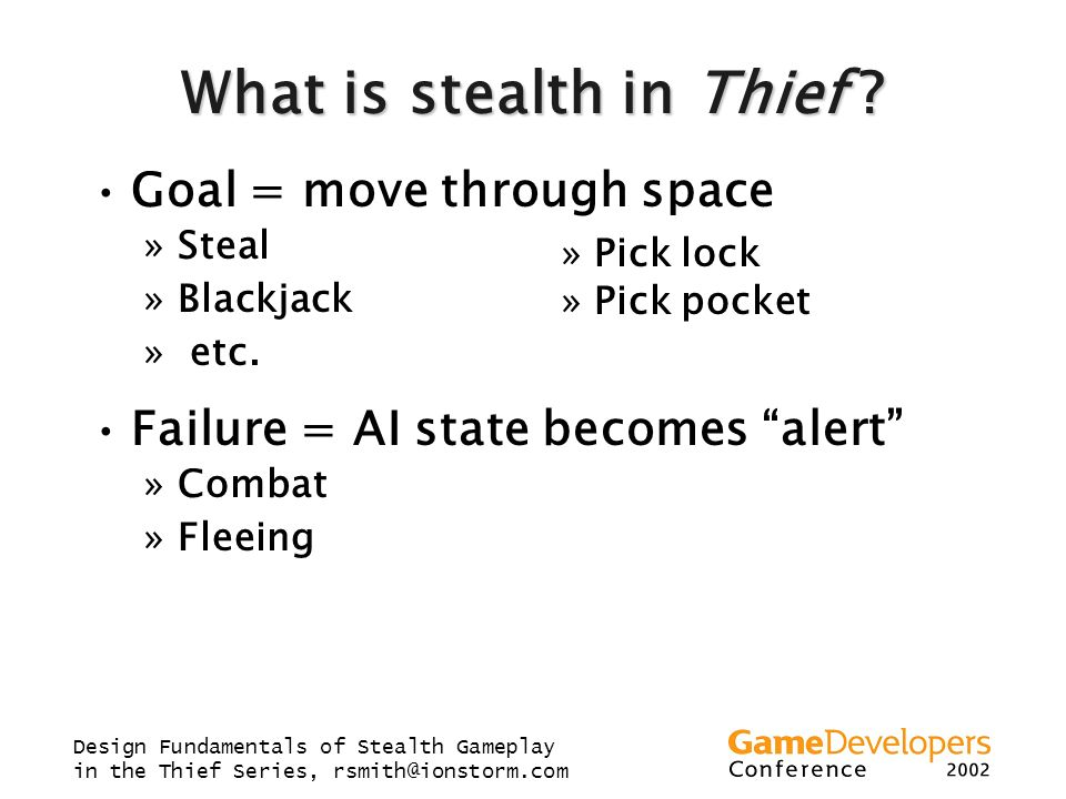 What is stealth in Thief