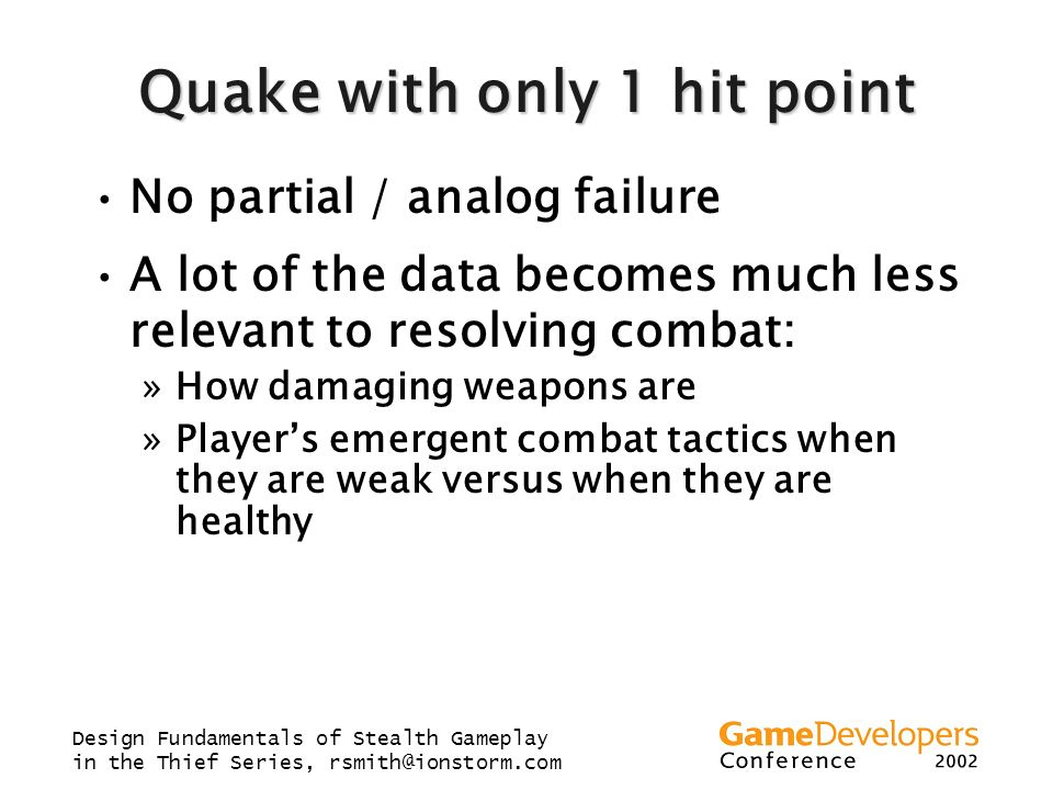 Quake with only 1 hit point