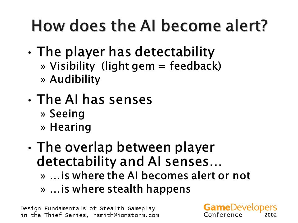 How does the AI become alert