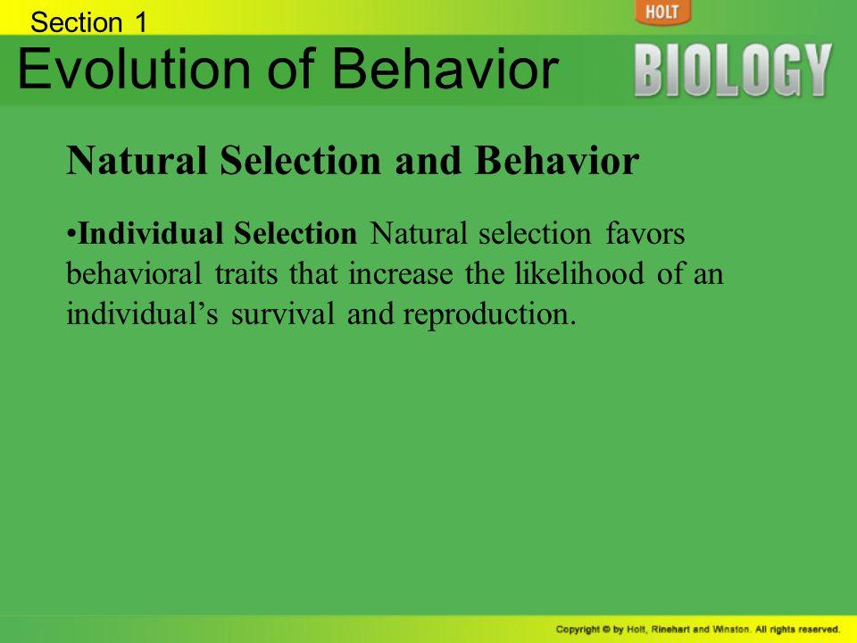 Innate Behavior Natural Selection