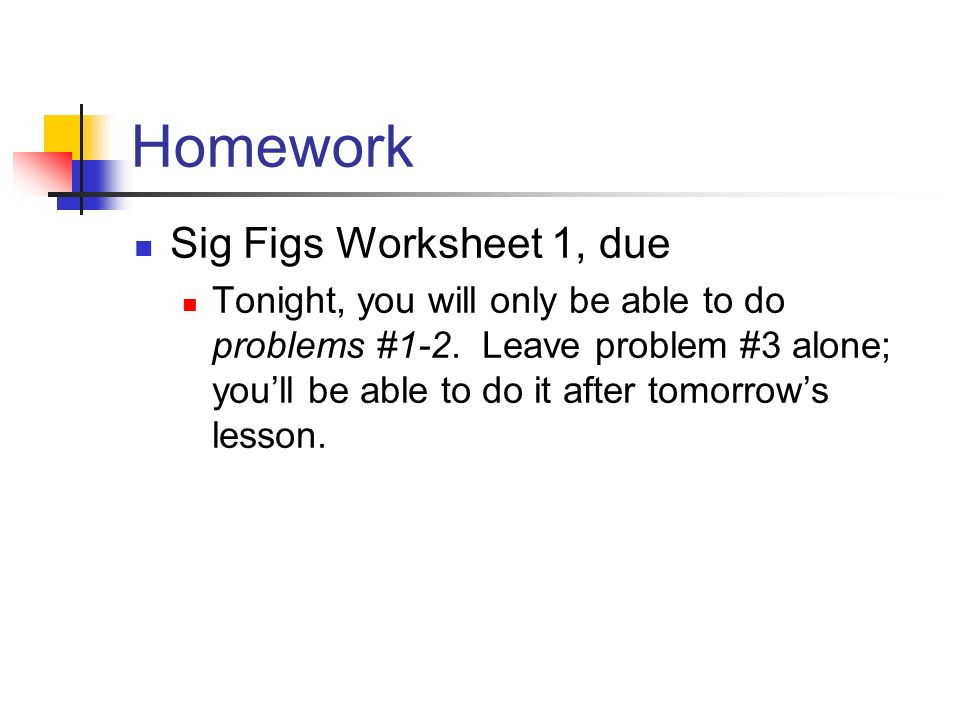 Bring your Variables Worksheet up to be stamped ppt download – Sig Fig Worksheet