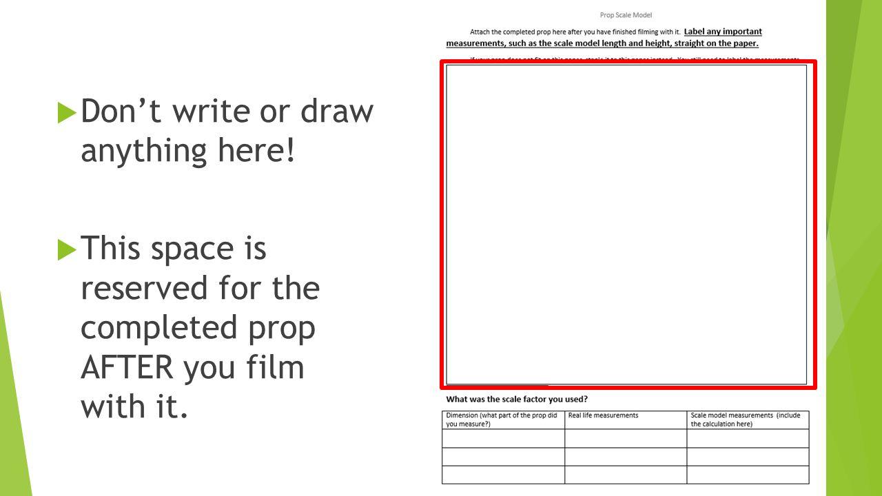prop scale model worksheet instructions ppt video online download. Black Bedroom Furniture Sets. Home Design Ideas