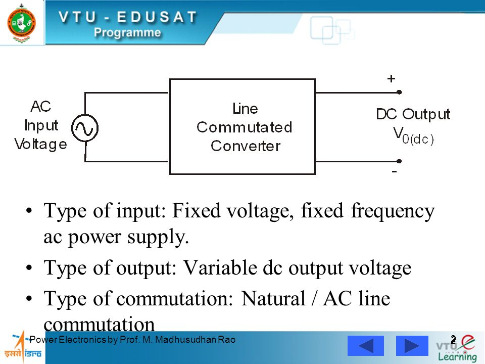 Frequency Of Ac : Controlled rectifiers line commutated ac to dc converters