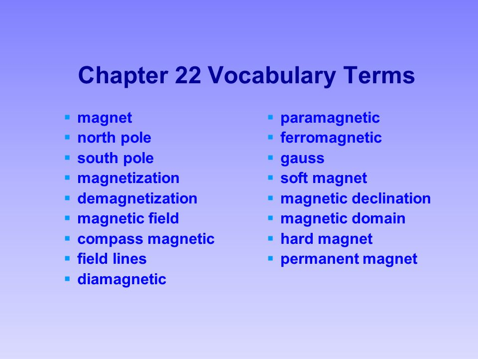 chapter 26 vocab We need vocab terms/definitions if you have vocab terms, you can add them to these lists just make sure: they're not copyrighted they are your terms/definitions.
