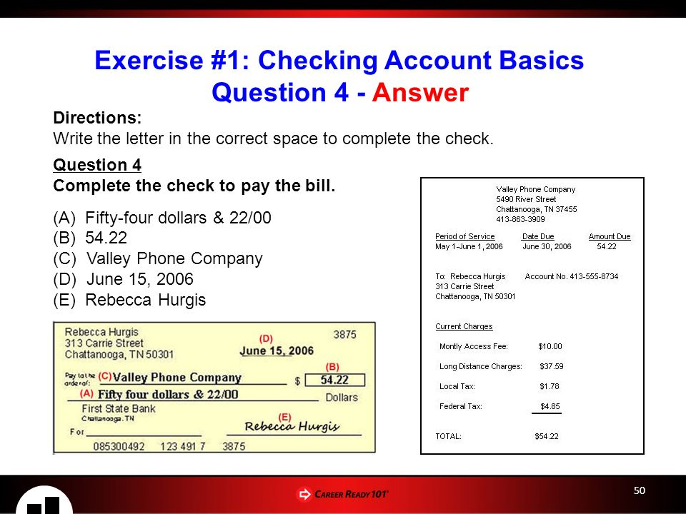 Checking savings accounts lesson 2 checking account basics 50 exercise ccuart Image collections