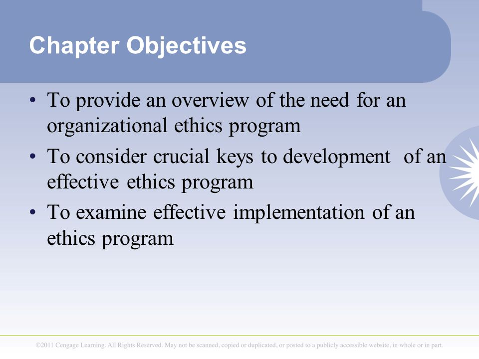 an overview of ethical behavior